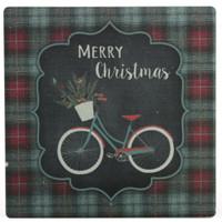 Christmas Bike Stone Coaster
