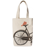 Classy Coral Bicycle Tote