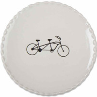 Tandem or Classic Bicycle Dessert Plates