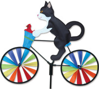 Cat Cyclist Yard Spinner