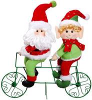 Tandem Christmas Santa and Elf Bright