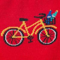 Red Knee High colorful bike design