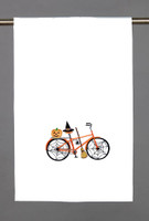 Spider Web Halloween Bike Kitchen Towel