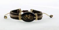 Leather and Wood Bracelet
