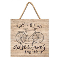 Small Pallet Bicycle Adventure Sign