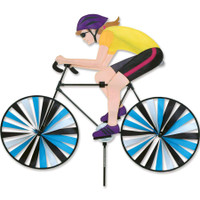 Female Cyclist Bicycle Spinner - LARGE