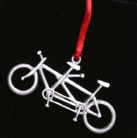 Tandem Bicycle Pewter Ornament