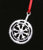 Snowflake Bicycle Crank Ornament