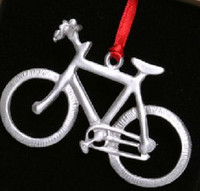Mountain Bike Pewter Ornament