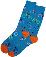 Turquoise Bright Bikes Mens Dress Sock