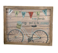 Family Journey Bicycle Wall Plaque
