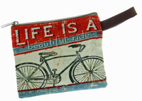 Vintage Inspired Small Bicycle Zipper Bag 6 Designs