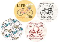 Bike Car Coasters 4 designs