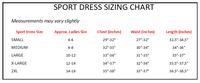 Sport Dress Sizing Chart