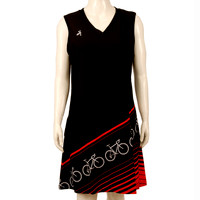 Black Red Bicycle Sport Dress
