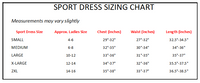 Sport Dress Sizing Chart