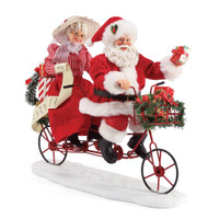 Santa and Mrs Claus on Tandem