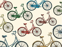 Multi Color Bicycle Note Cards