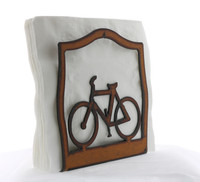 Rustic Iron Bicycle Napkin Holder