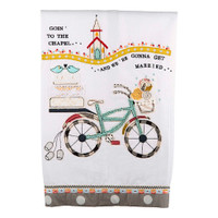 Going to the Chapel Bicycle Tea Towel