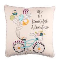 Beautiful Adventure Bicycle Pillow