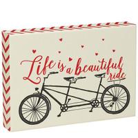 Beautiful Ride Tandem Heart Sign