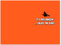 Halloween Bicycle Greeting Card