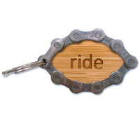 Bamboo RIDE Bicycle Chain Key Ring