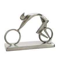 Silver Aero Cyclist