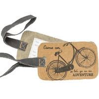 Bicycle Adventure Canvas Luggage Tag
