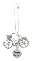 Cruiser with Basket Bicycle Car Charm