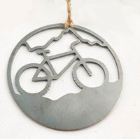 Mountain Bike Rustic Recycled Steel Ornament