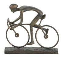 Single Cyclist Bike Sculpture