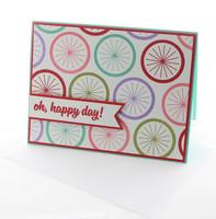Oh Happy Day Bike Wheel Greeting Card