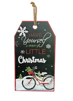 Merry Christmas Bicycle Wall Hang Tag