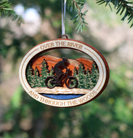 Over the River Wood Bicycle Ornament