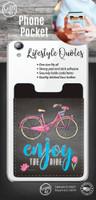 Enjoy the Ride Bicycle Phone Pocket