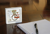 Ride through Life with Me Bicycle MINI Sign