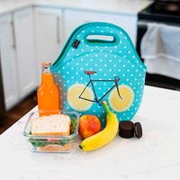 Lemon Zest Bicycle Neoprene Lunch Bag
