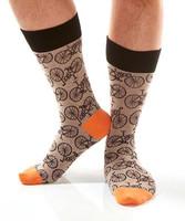 Brown BIKE Mens Sock