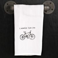 I Wheelie Like You Kitchen Towel