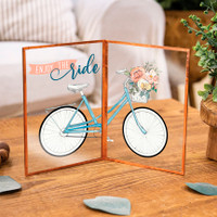 Enjoy the Ride Bicycle Glass Sign