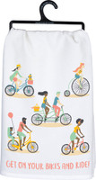 Get on Your Bikes and Ride Dish Towel