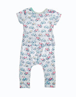 Bicycle Baby Romper with hat Zero to Six Months