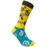 Bicycle Ride Yellow Sock