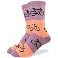 Coral Bold Stripe Bicycle Stock