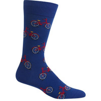 Dark Blue Men's Bicycle Sock