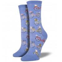 Periwinkle Bikes Women's Crew Socks