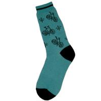 Teal Women's Bicycle Socks