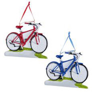 Classic Bike on Path Bicycle Ornament Red or Blue